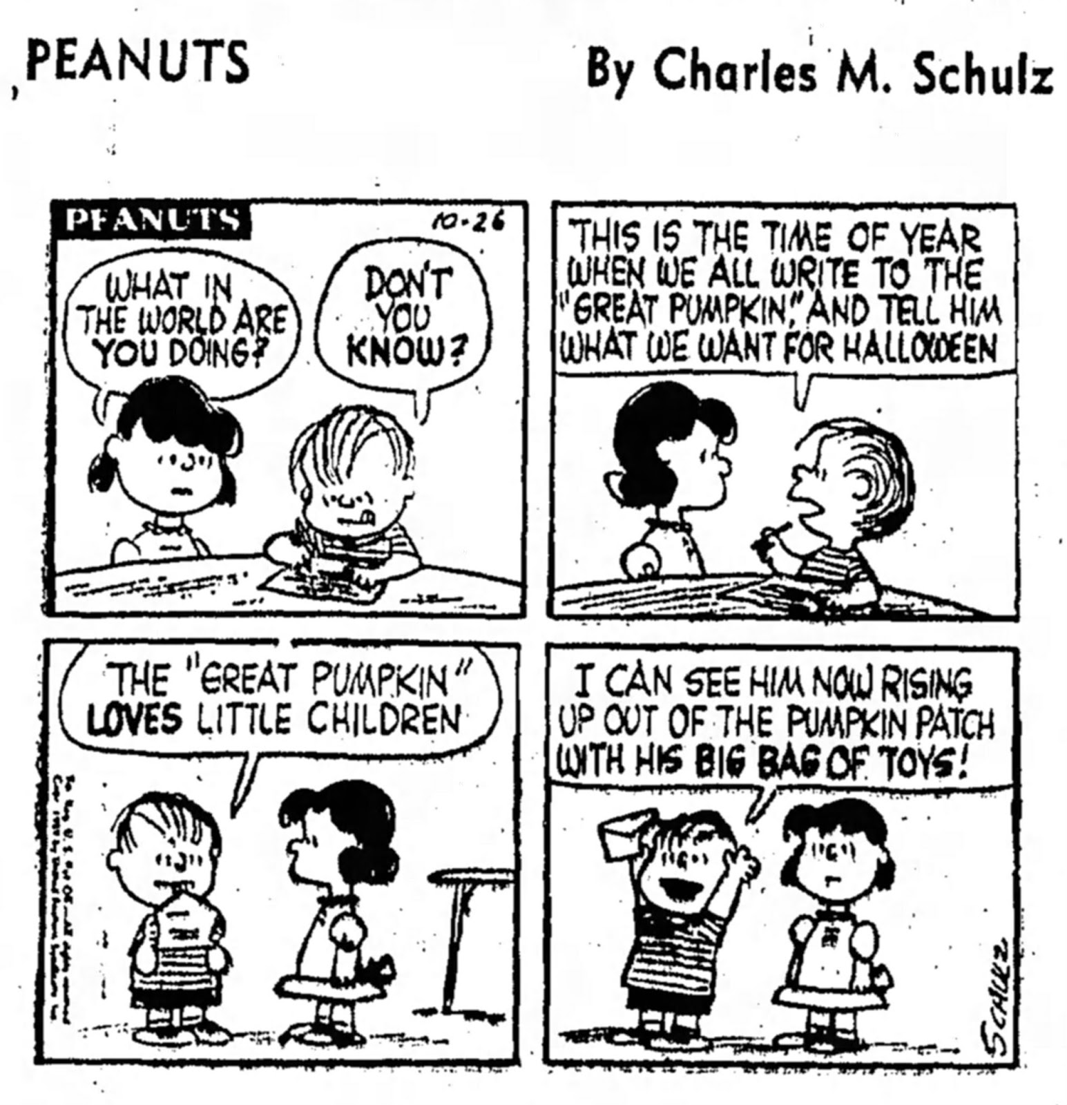 Great Pumpkin, Where Are You?: Peanuts Halloween 1959: The first ...