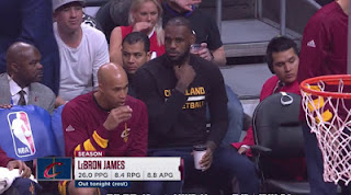 Lebron James with Coffee Cleveland Cavs