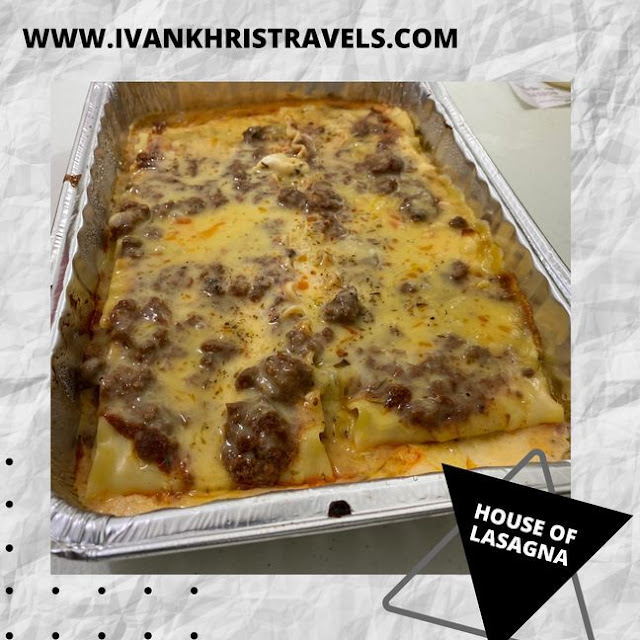 Delicious baked lasagna care of House of Lasagna