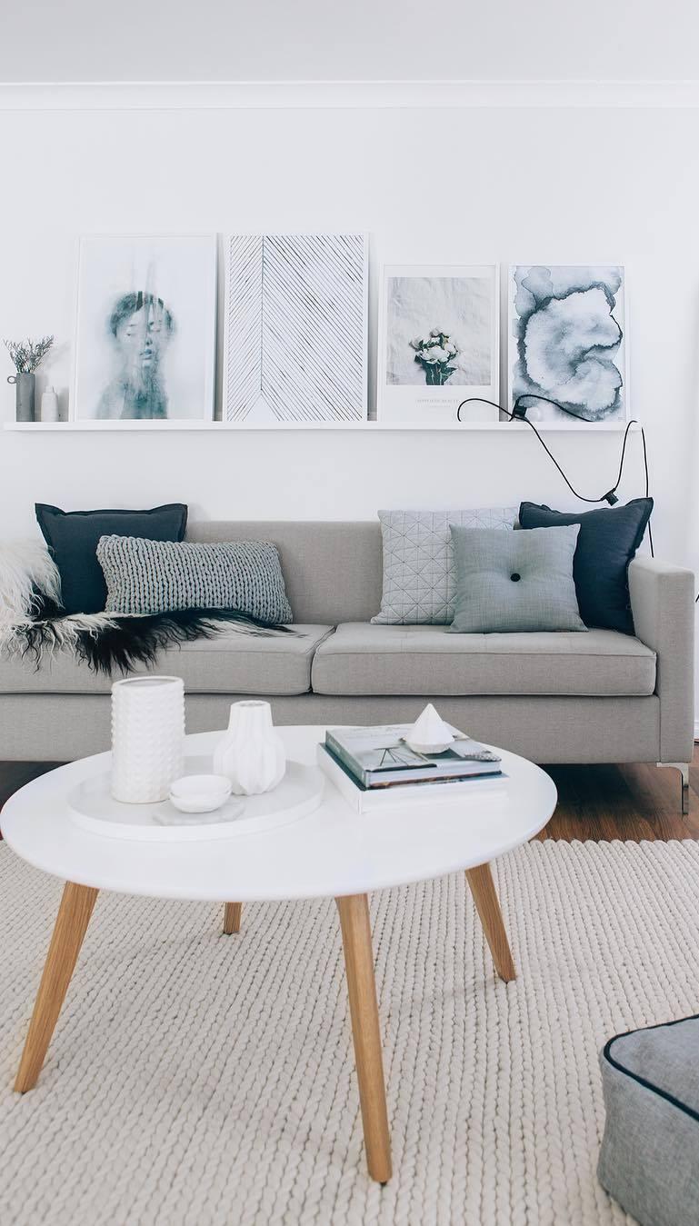 nude living room decor idea