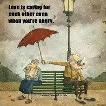 Funny love is caring cartoon picture