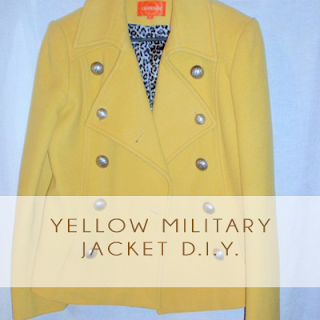 Yellow Military Jacket
