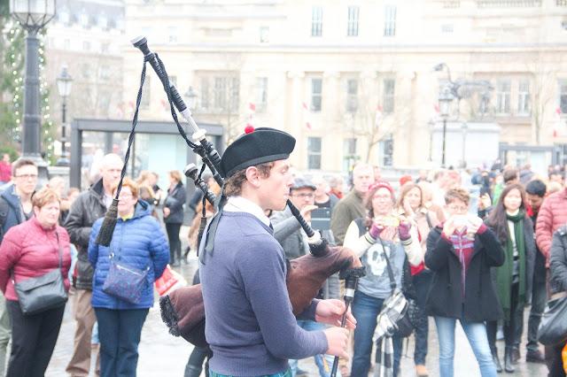 Musiciens à Trafalgar Square