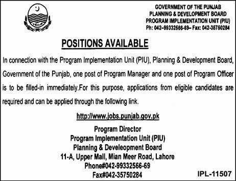 Planning and Development Board Govt of  Punjab 13 Dec 2018