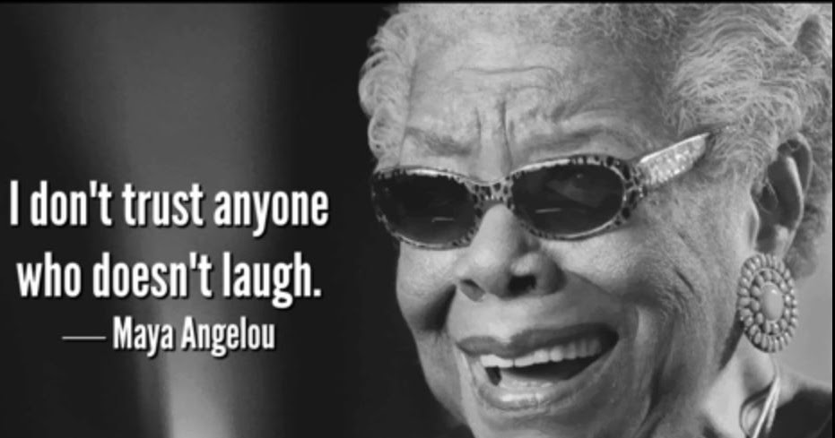old folks laugh by maya angelou Old folks laugh ———-maya angelou they have spent their content of simpering, holding their lips this and that way, winding the lines between their brows old folks allow their bellies to jiggle like slow tambourines the hollers rise up and spill over any way they want.