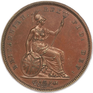 British Coins One Penny 1831 Britannia