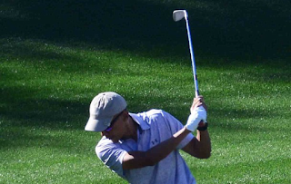Some things never change! Obama heads back out on the golf course for a round on exclusive estate owned by billionaire Larry Ellison on his first full day of retirement (at least he'll have time to work on his putting)