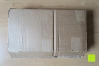 Verpackung: Badablage mit Glasboden und verchromter Reling 50 x 14 cm