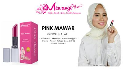 Gincu Halal  Mewangi - Pink Mawar