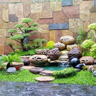 Taman dekorasi tebing