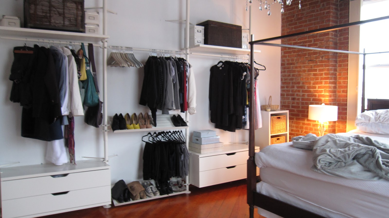 my second storey let there be closet oh and light s. Black Bedroom Furniture Sets. Home Design Ideas