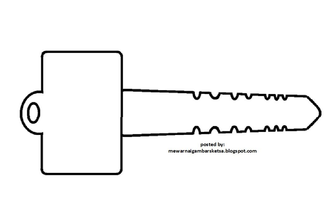 Mewarnai Gambar Mewarnai Gambar Sketsa Kunci Motor