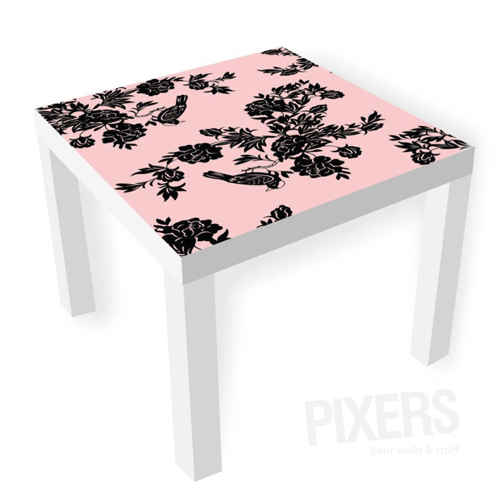 table furniture with flower decals