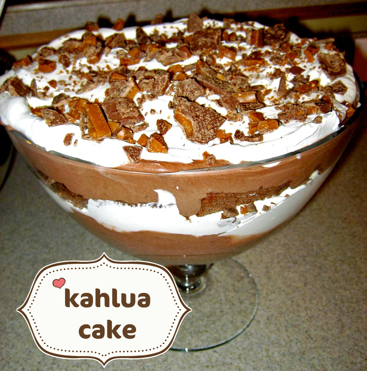 Kahlua Chocolate Mousse Cake