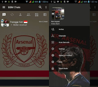 Download BBM Mod Tema Logo Arsenal v3.2.5.12 Terbaru