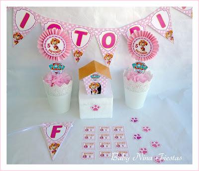 kit de cumpleaños Skye patrulla canina