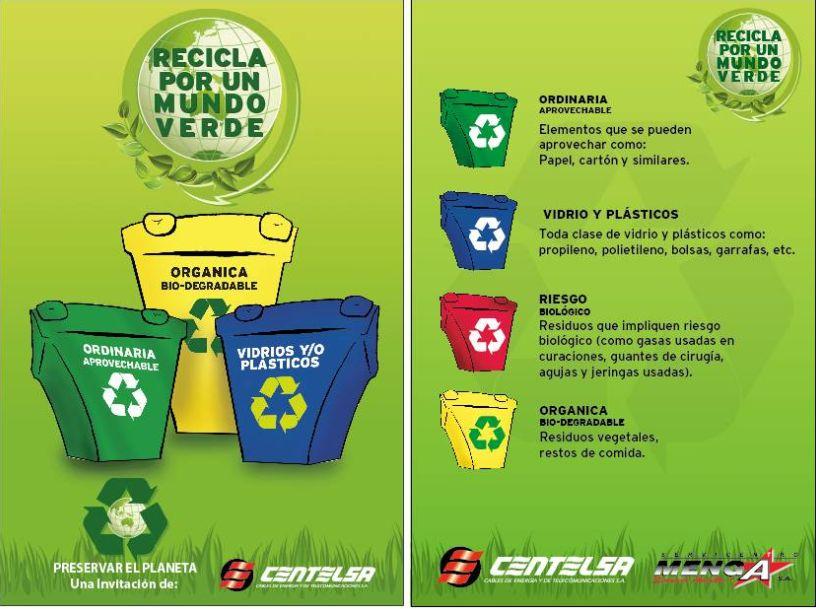 Pensamiento critico go green sabes por que los - Colores para reciclar ...