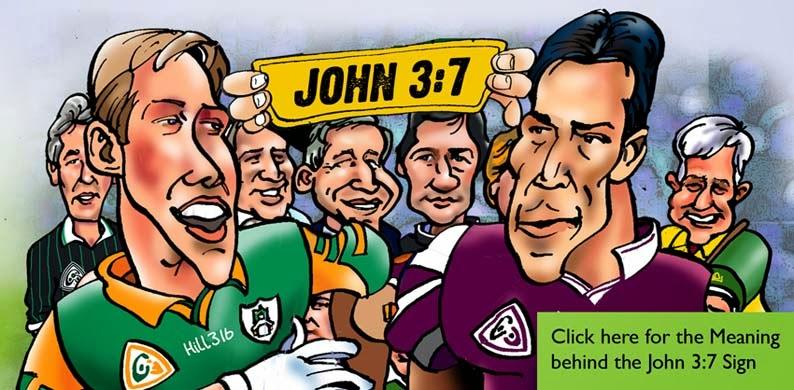 John 3:7 Sign at GAA matches with Limerickman Frank Hogan