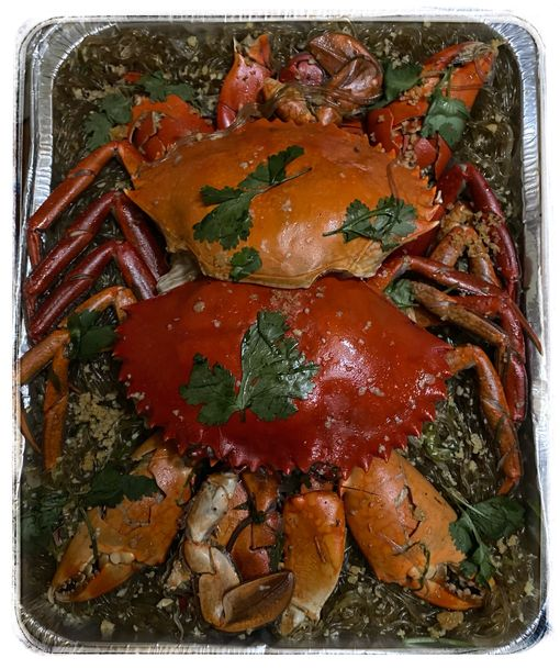 8 Spoons Party Trays crab sotanghon