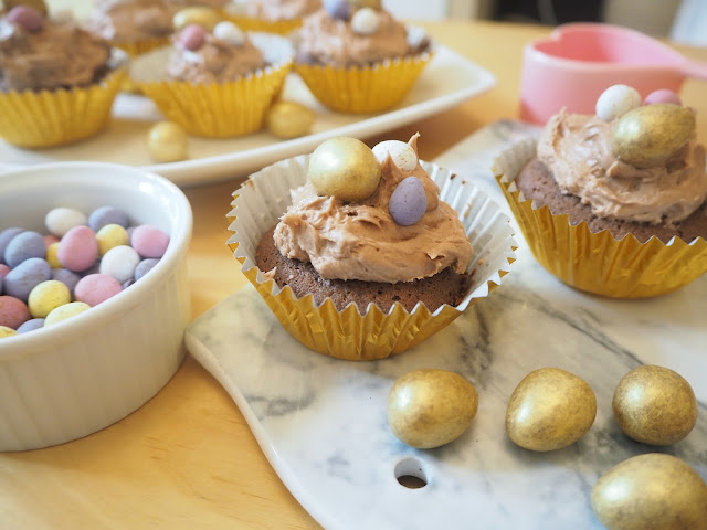 Easter Chocolate Cupcakes Recipe, featuring Mini Eggs and Galaxy Golden Eggs