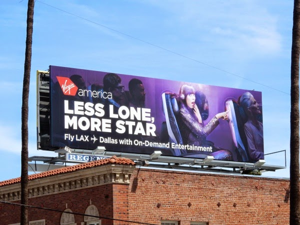 Virgin America Less lone more star billboard