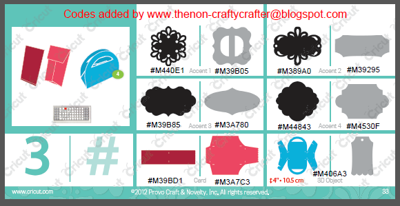 The Non-Crafty Crafter: CRICUT: CTMH Artiste - Design space codes added