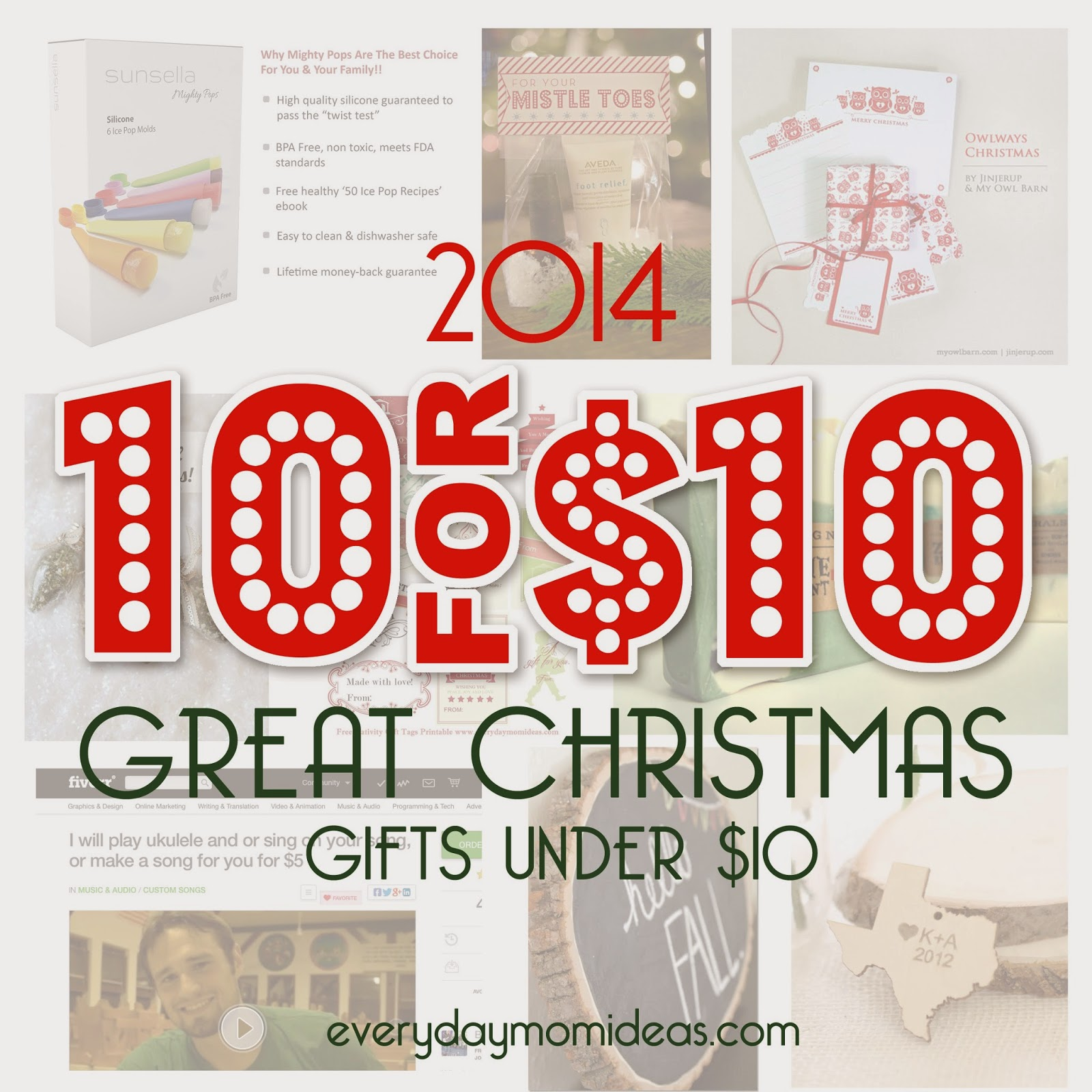 10 Unique Christmas Gifts Under $10! (2014 gift guide) - Everyday ...