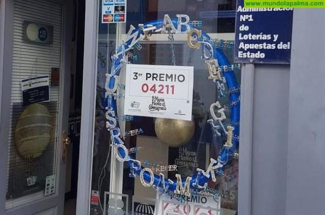 La administración de lotería nº1 de Santa Cruz de La Palma vuelve a traer suerte a la capital palmera