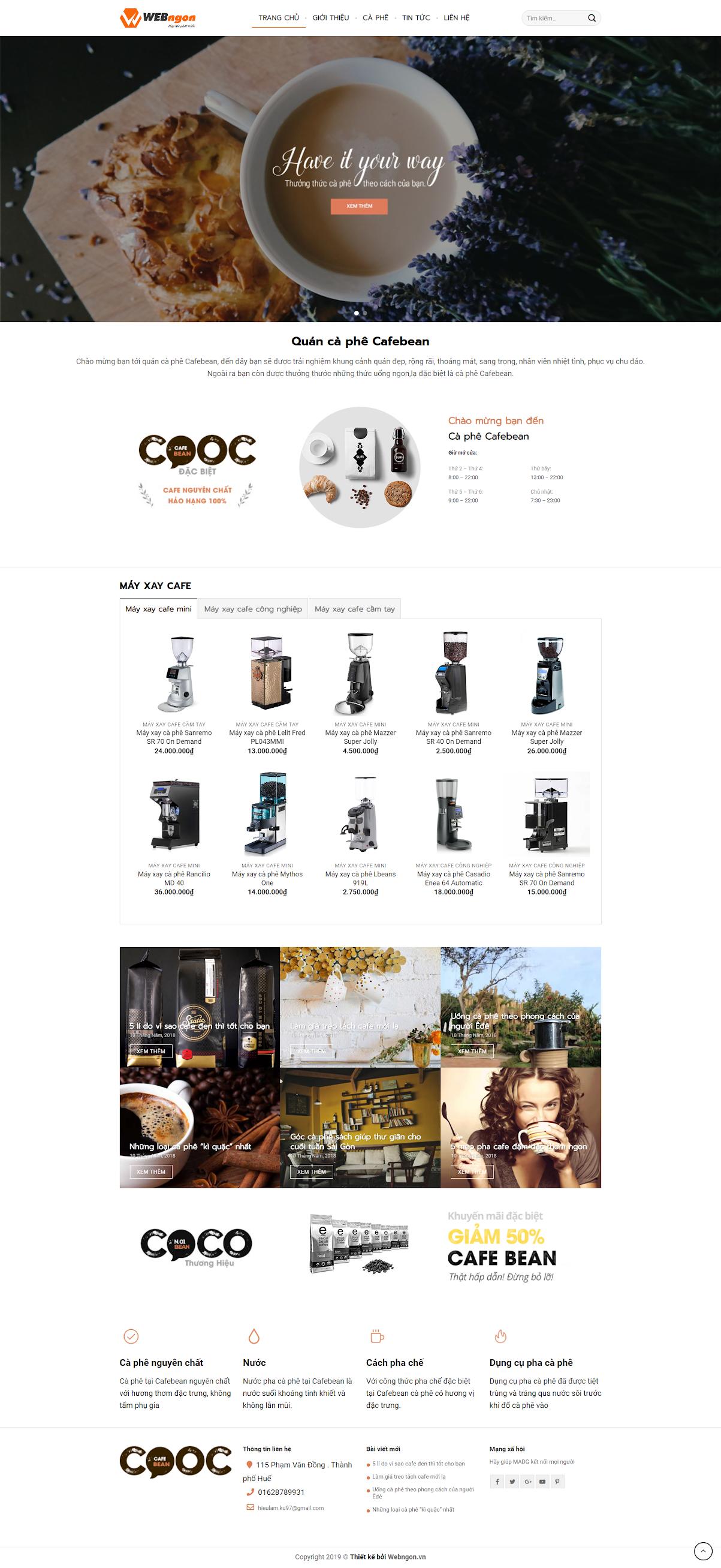 mẫu bán máy xay cà phê coffee wn038