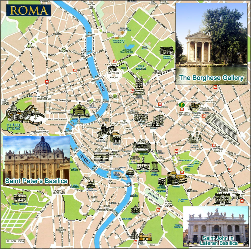 Roma Centro Cartina.Mappa Roma Junglekey It Immagini