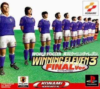 واجهة بداية لعبة Winning Eleven 3