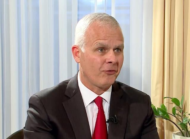 Former Intelligence agent of Albanian descent, Christopher Costa, is interviewed Tirana