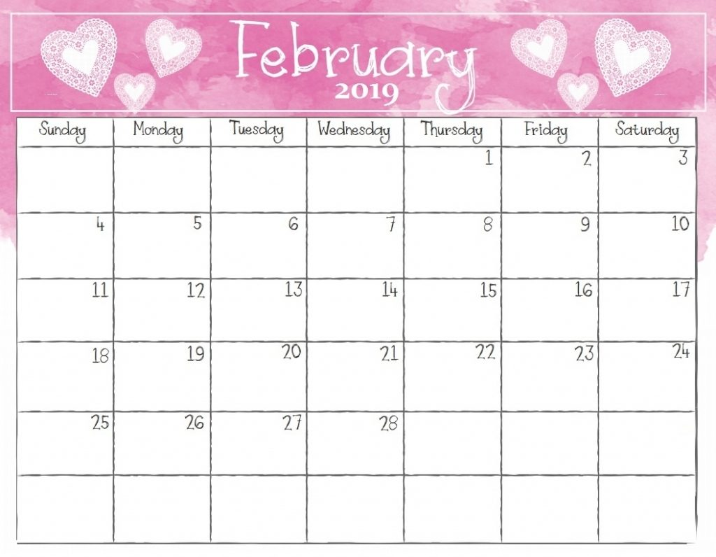 February 2019 Calendar With Holidays Free Download