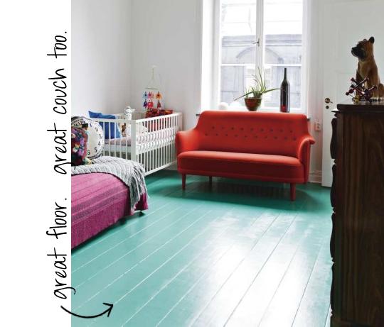 turquoise floor