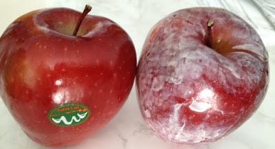 epal yang di wax, wax pada epal, basic h, cara hilangkan wax pada buah