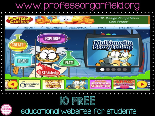 FREE Educational Websites for Students - Professor Garfield