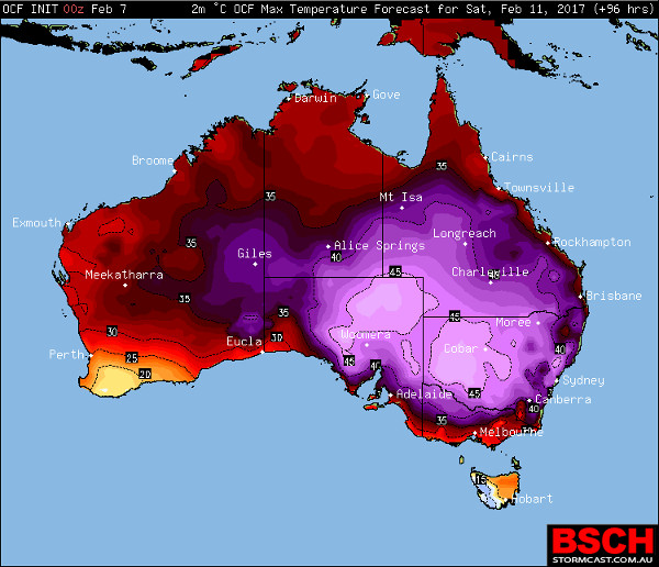 higgins stormchasing arent the only ones using meteorological maps showing temperatures with a different colour scale to bom