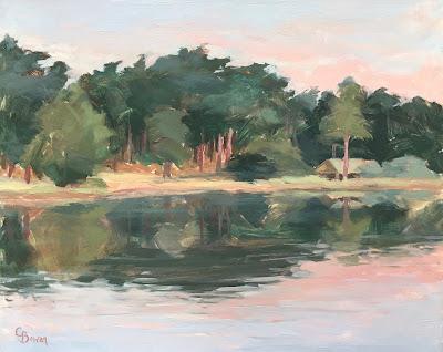 #125 'Sunrise, Frensham Pond' 8×10″