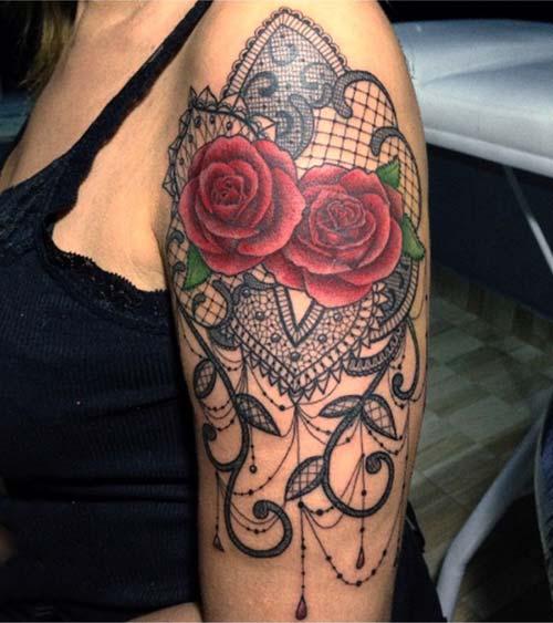 dantel dövmeleri lace tattoos 19