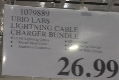 Costco 1079889 - Ubio Labs Premium Mobile Charging Kit includes lightning cables and charger