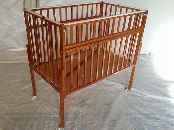 Vintage Drop-side Wooden Doll Crib - $35 | Oklahoma City Craigslist Garage Sales