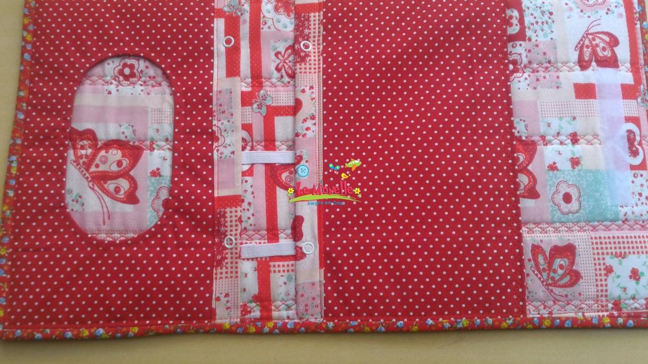 Le Monelle  Bolsa Porta Fraldas em tecido da Luiza 48ee8e5769db
