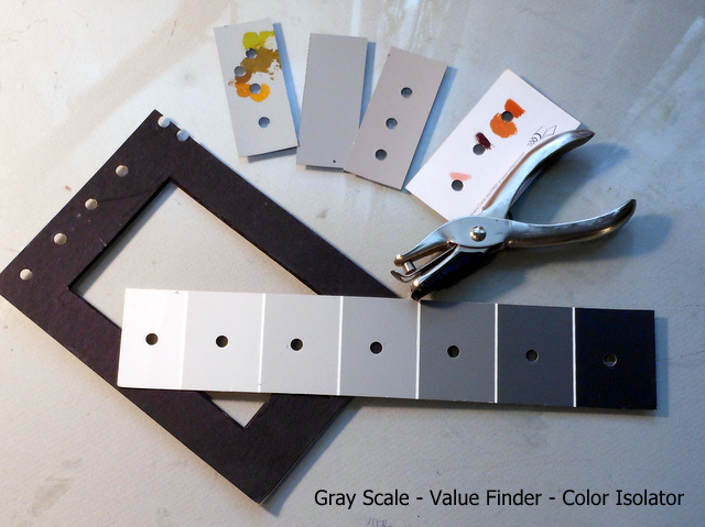 Pochade Box Paintings: Gray Scale – Value finder – Color ...
