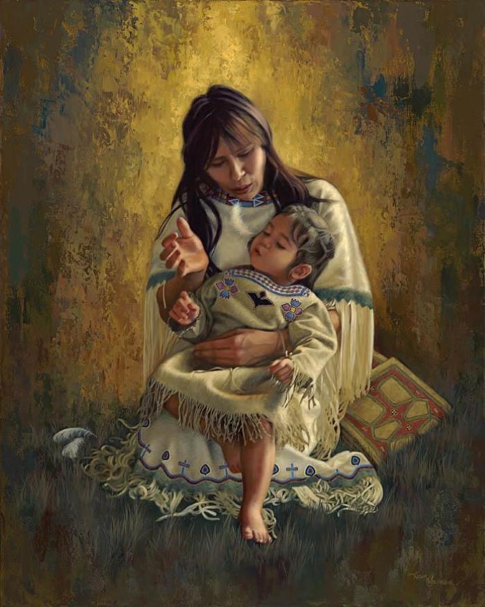 Картины об индейцах. Karen Noles 3