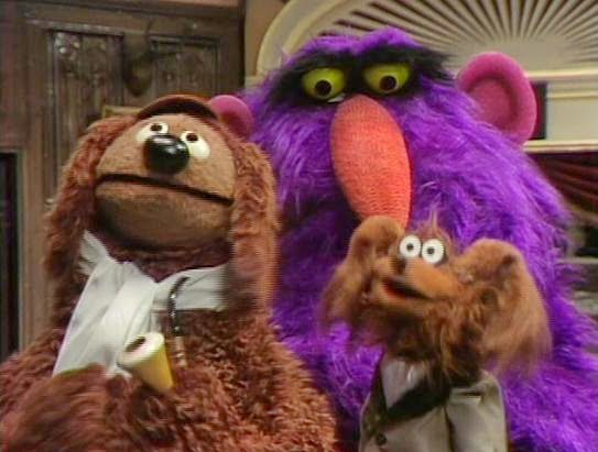 Rowlf and Baskerville the Hound take on Sherlock Holmes and the Case of the Disappearing Clues