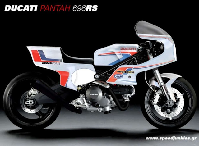 Ducati Pantah 696RS Retro Vintage Mashup by Speedjunkies.gr