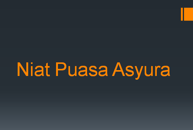 Niat Puasa Asyura