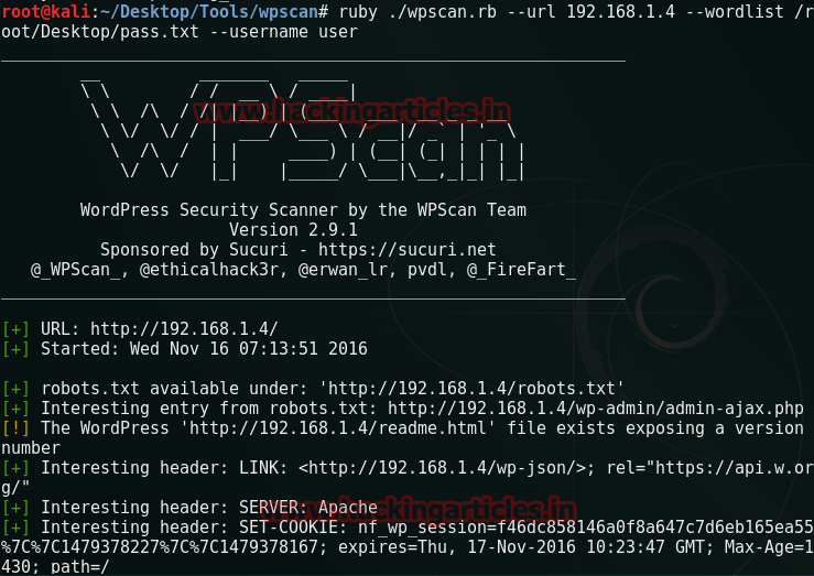 5 ways to Brute Force Attack on Wordpress Website