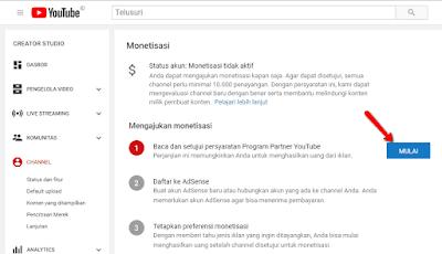 Cara pengaturan Video di YouTube agar Menghasilkan Uang