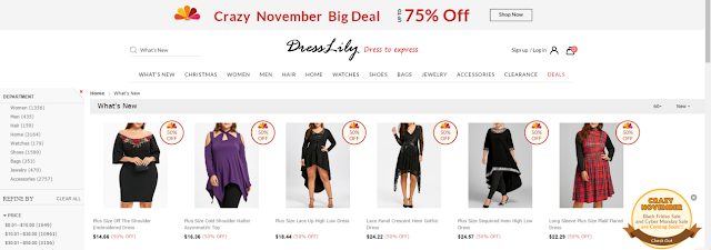 Dresslily Black Friday & Cyber Monday Sale, new arrivals, novidades, roupas, fashion, promoção, promotion